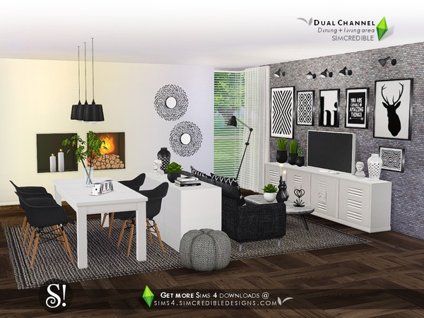 Dual Channel diningroom by SIMcredible at TSR image 880 Sims 4 Updates