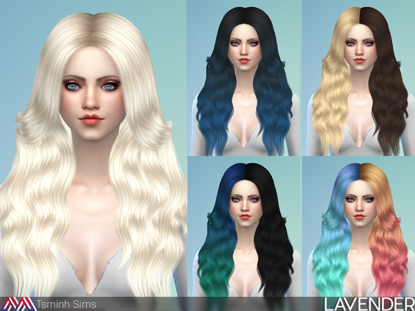 Lavender hair 35 by TsminhSims at TSR image 90 Sims 4 Updates