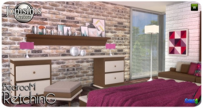 Retching bedroom at Jomsims Creations image 9010 670x355 Sims 4 Updates