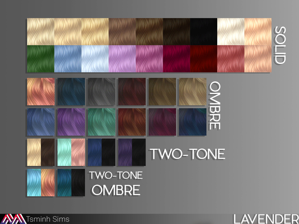 Lavender hair 35 by TsminhSims at TSR image 91 Sims 4 Updates