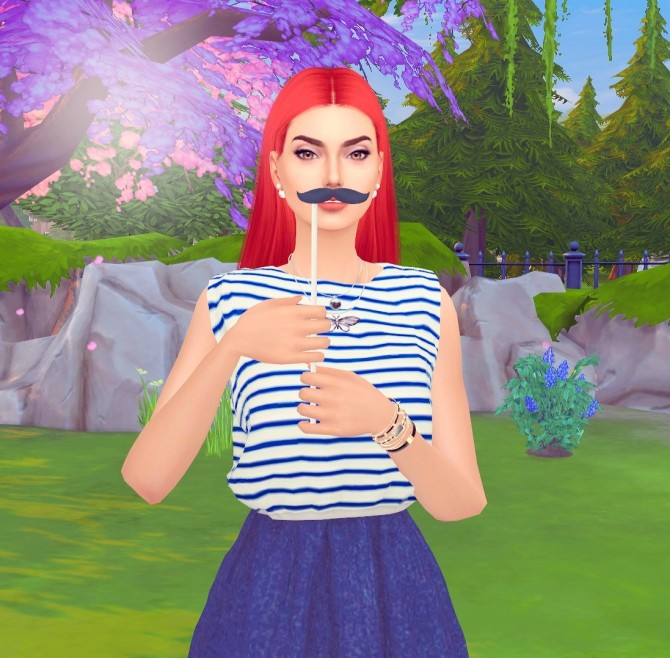 Sims 4 Your mustache poses at Rethdis love