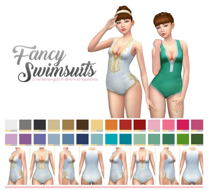 Sims 4 Fancy Swimsuits at SimLaughLove