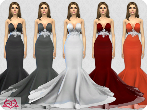 Sims 4 Wedding Dress 8 by Colores Urbanos at TSR