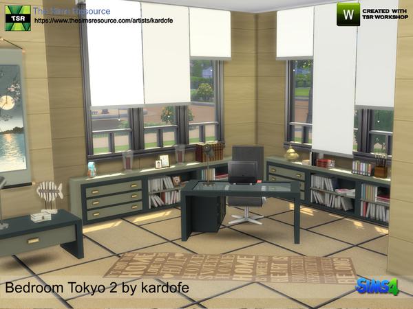 Bedroom Tokyo 2 by kardofe at TSR image 926 Sims 4 Updates
