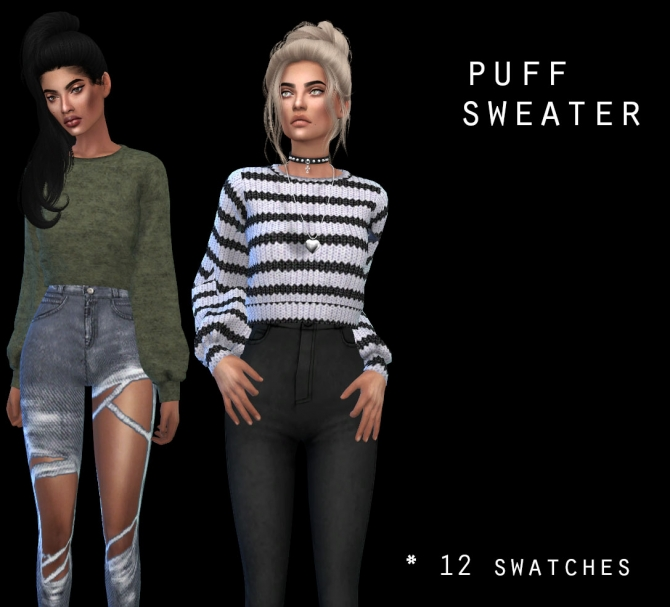 Puff Sweater At Leo Sims 187 Sims 4 Updates