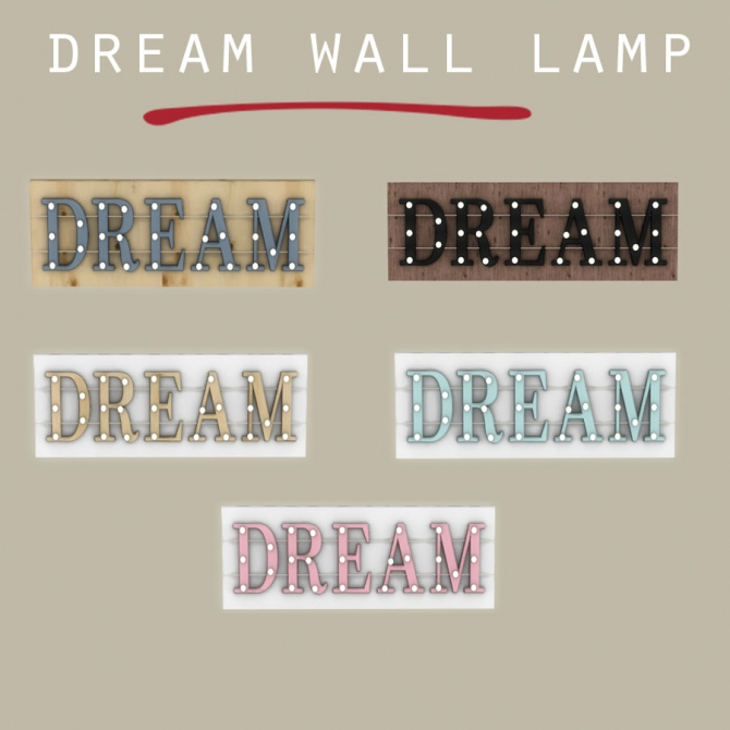 Dream Wall Lamp At Leo Sims 187 Sims 4 Updates