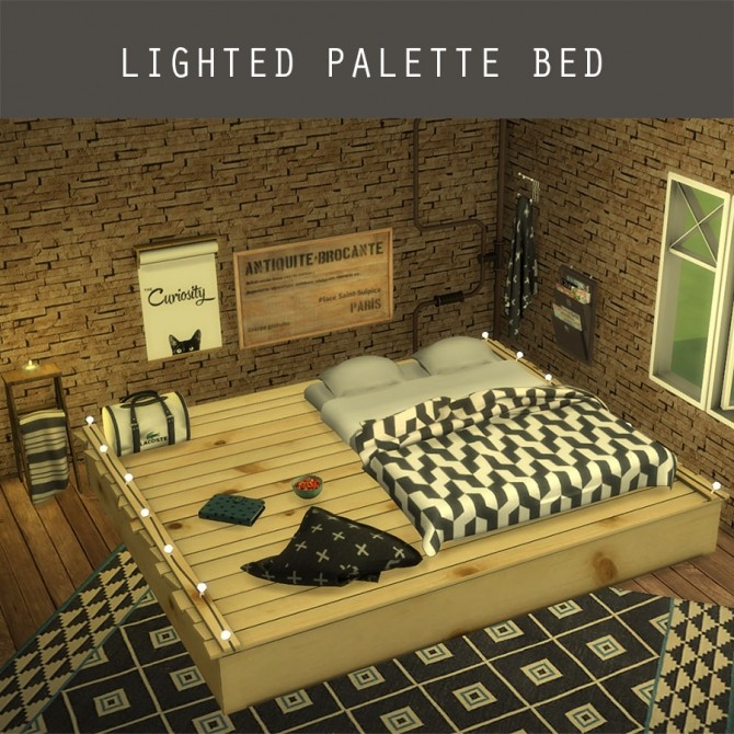Lighted Palette Bed at Leo Sims image 943 670x670 Sims 4 Updates