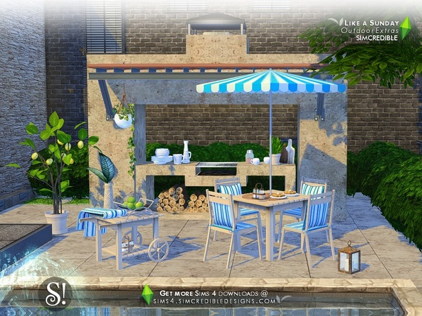 Sims 4 Like a Sunday decor by SIMcredible at TSR