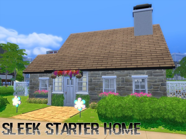 Sims 4 Sleek Starter Home by TheFabulousPearl at TSR
