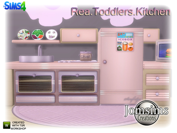 Rea Toddlers Kitchen by jomsims at TSR image 960 Sims 4 Updates