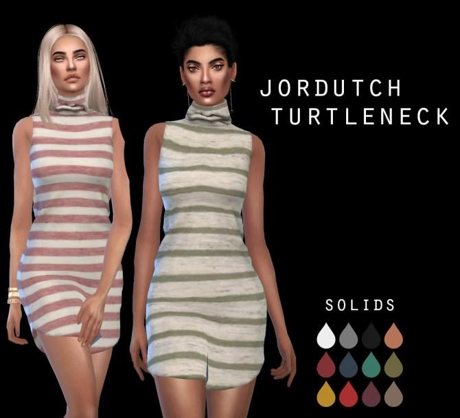 Sims 4 Jordutch Turtleneck dress at Leo Sims