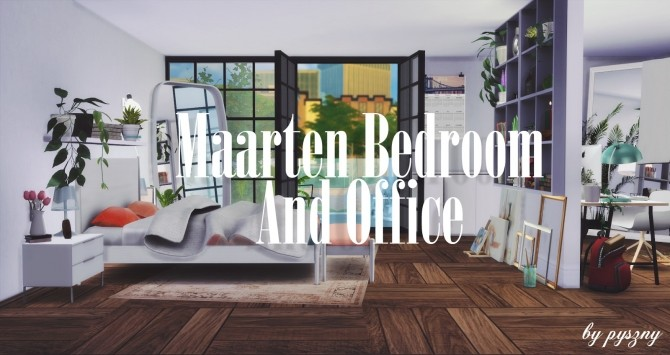 Sims 4 Maarten Bedroom & Office at Pyszny Design