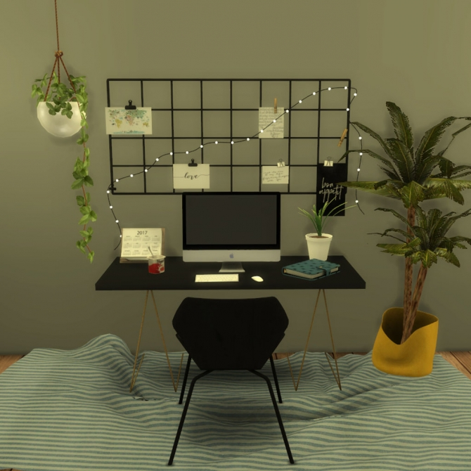 Wall Grid With String Light At Leo Sims 187 Sims 4 Updates