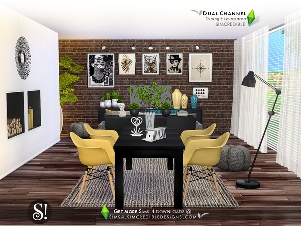 Dual Channel diningroom by SIMcredible at TSR image 980 Sims 4 Updates