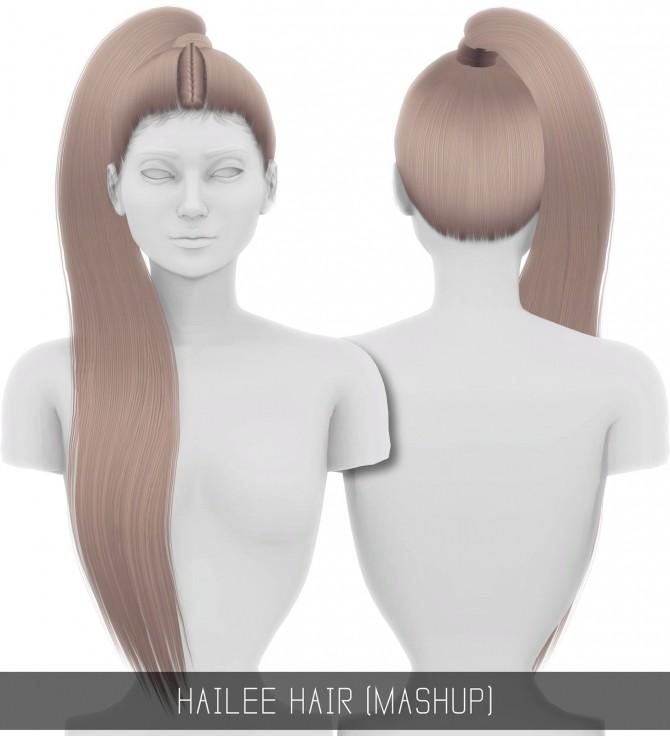 Sims 4 HAILEE HAIR MASHUP at Simpliciaty