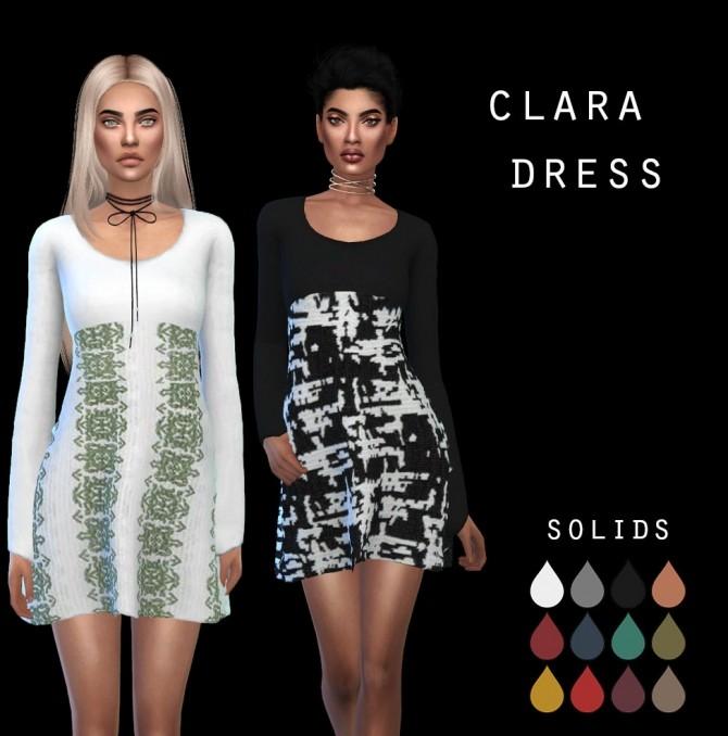Sims 4 Clara Dress at Leo Sims