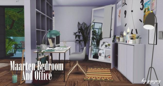 Maarten Bedroom & Office at Pyszny Design image 9912 670x355 Sims 4 Updates