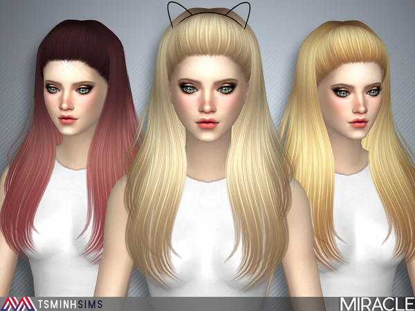 Miracle Hair 40 Set by TsminhSims at TSR image 1 Sims 4 Updates