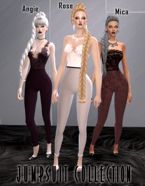 3 Jumpsuits at BlueRose Sims image 1001 Sims 4 Updates