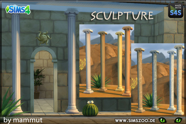 Sims 4 Deco Roman Column M by mammut at Blacky's Sims Zoo