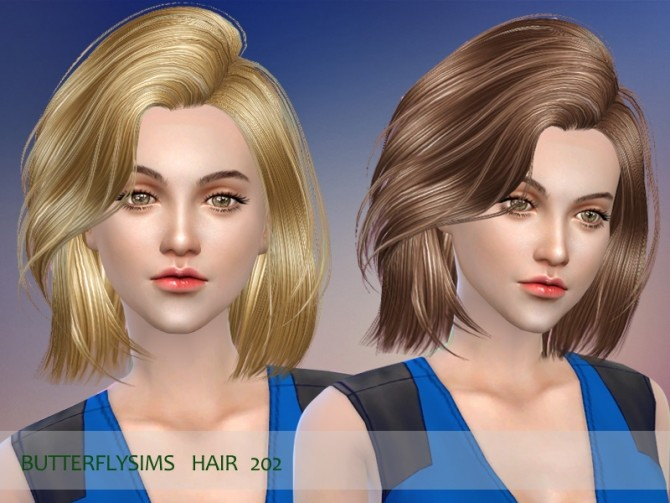 Sims 4 Hair 202 by Yoyo (Pay) at Butterfly Sims