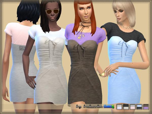 Sims 4 Dress Knitted Corset by bukovka at TSR