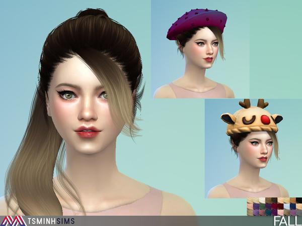 Fall Hair 41 by TsminhSims at TSR image 1018 Sims 4 Updates