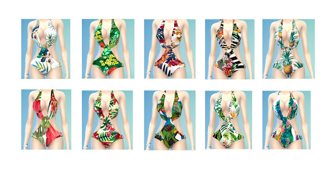 Tropical swimsuits at Lily Sims image 1022 Sims 4 Updates
