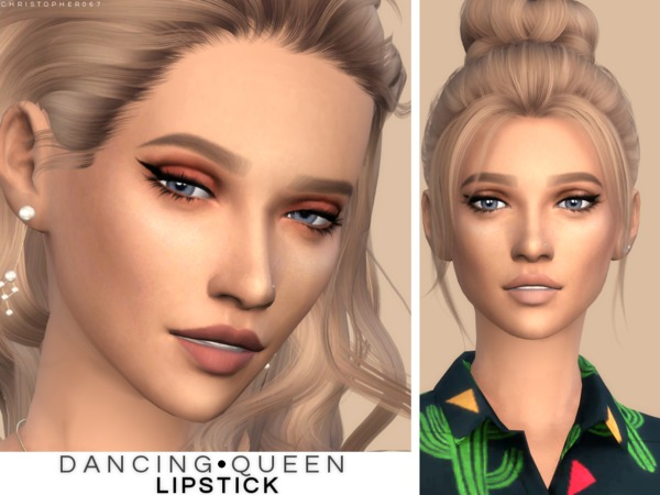 Dancing Queen Lipstick by Christopher067 at TSR image 1026 Sims 4 Updates