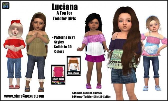 Sims 4 Luciana top by SamanthaGump at Sims 4 Nexus