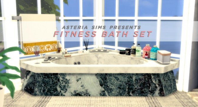 Fitness bath set at Asteria Sims image 1031 670x365 Sims 4 Updates
