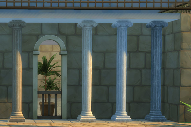 Sims 4 Deco Roman Column S by mammut at Blacky's Sims Zoo