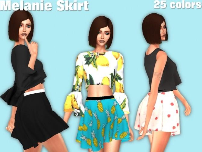 Sims 4 Melanie skirt by Sharareh at TSR