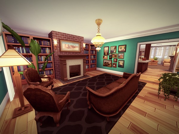Sims 4 Glenhaven house by melcastro91 at TSR