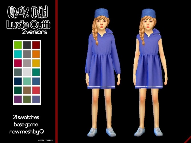 Child Lucile Set at qvoix – escaping reality image 1057 670x503 Sims 4 Updates