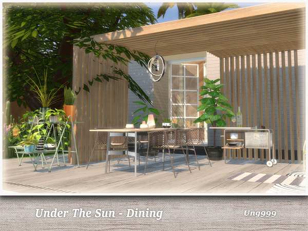 UNder The Sun Dining by ung999 at TSR image 1060 Sims 4 Updates