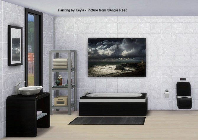 A.R.Reed paintings at Keyla Sims image 1064 670x475 Sims 4 Updates