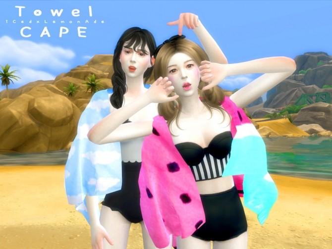 Sims 4 Watermelon Beach Set at iCedxLemonAde
