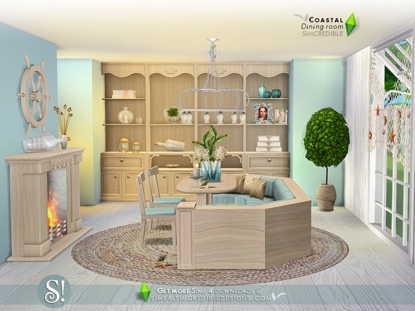 Coastal Dining room by SIMcredible at TSR image 1070 Sims 4 Updates