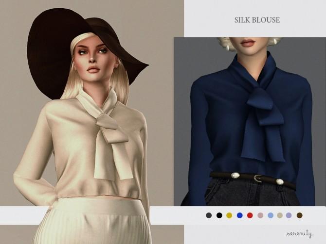 Sims 4 Silk Blouse at SERENITY