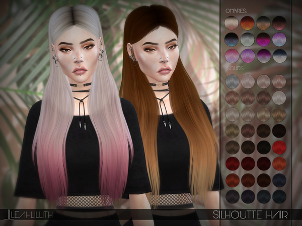 Silhouette Hair by Leah Lillith at TSR image 1109 Sims 4 Updates