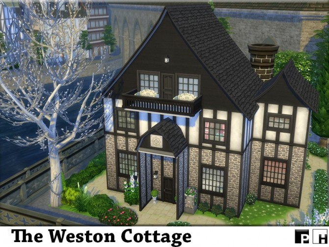 Sims 4 The Weston Cottage (NO CC) by Pinkfizzzzz at TSR