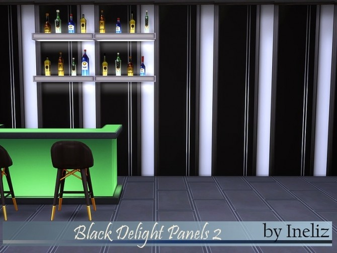 Sims 4 Black Delight Panels 2 by Ineliz at TSR