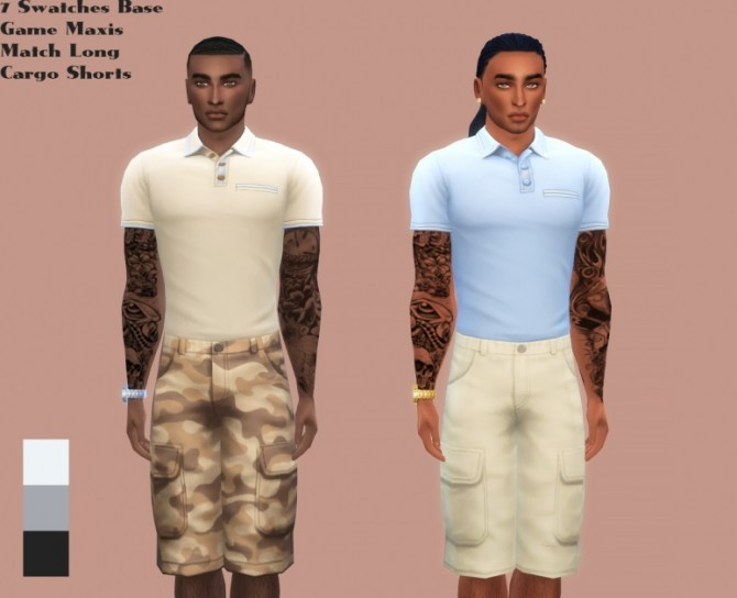 Sims 4 Male Long Cargo Pants at The Beautiful Sims of Color
