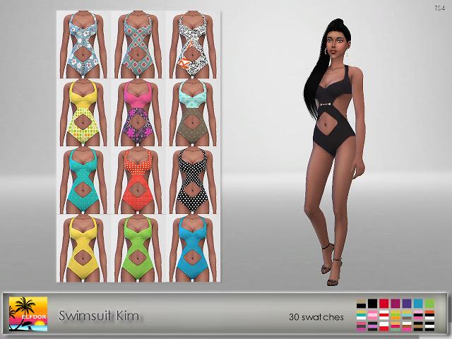 Sims 4 Swimsuit Kim at Elfdor Sims