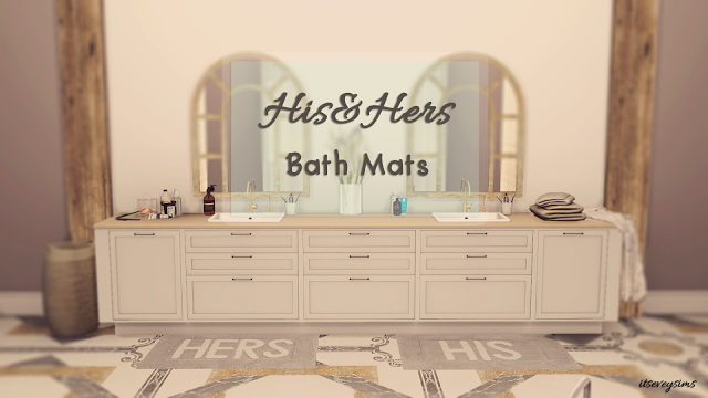 His&Hers Bath Mats at Evey Sims image 1181 Sims 4 Updates