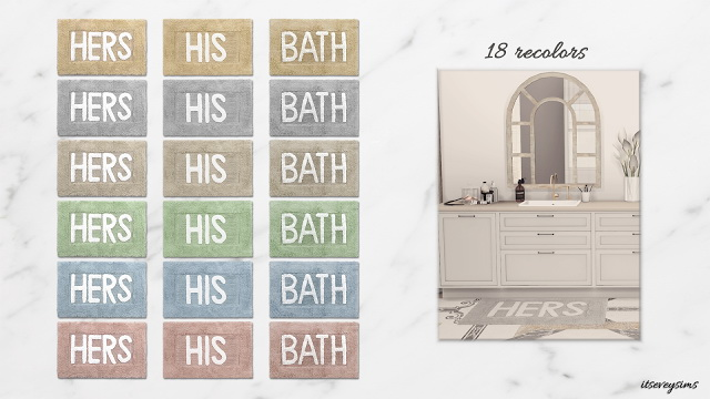His&Hers Bath Mats at Evey Sims image 1191 Sims 4 Updates