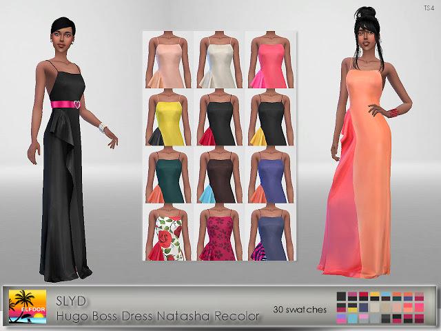 Sims 4 SLYD Dress Natasha Recolor at Elfdor Sims