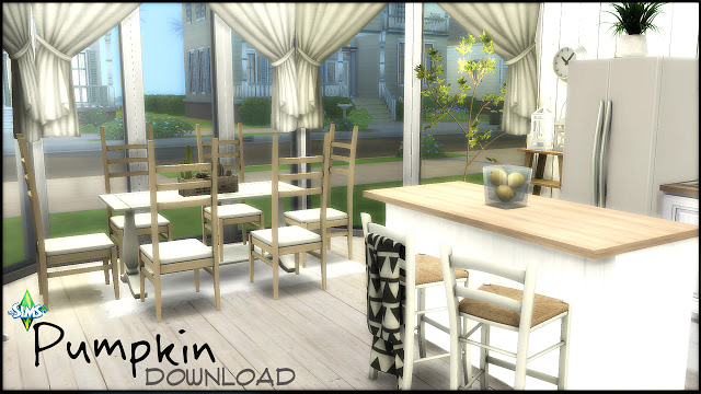Pumpkin kitchen by Rissy Rawr at Pandasht Productions image 1201 Sims 4 Updates