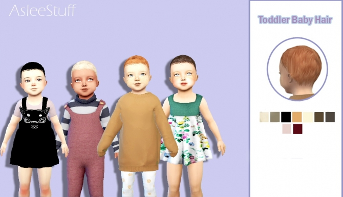 Baby Hair At Aslee 187 Sims 4 Updates
